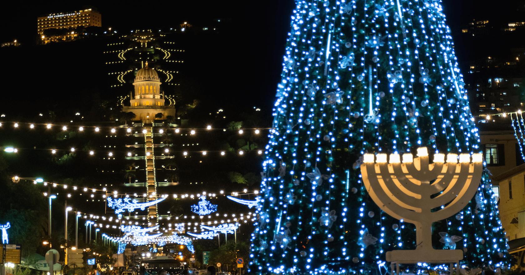 Image result for jews celebrating christmas in Tel Aviv