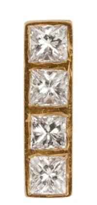 Ileana Makri, Diamond & yellow-gold earring, £438 | Courtesy Matches Fashion
