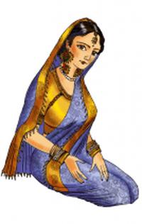 Portrait of Furak, Princess of India | © Asli Samadova (P) 2015 Asli Samadova and ASN (Azerbaijan Student Network) Illustrations by Creative 141 Worldwide