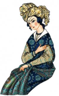 Portrait of Diroste, Turkestan Princess | © Asli Samadova (P) 2015 Asli Samadova and ASN (Azerbaijan Student Network) Illustrations by Creative 141 Worldwide
