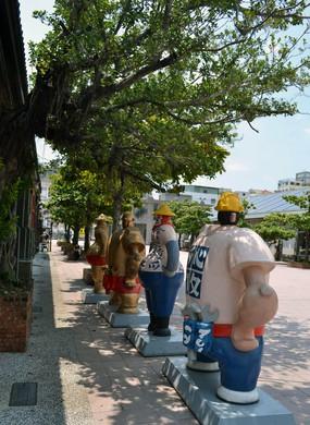 An art installation at Pier-2 Art Center, Kaohsiung.
