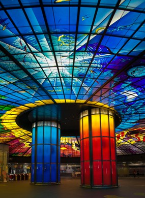 Dome of light at Formosa Boulevard Station