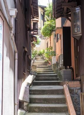 Side alleys in Arima Onsen
