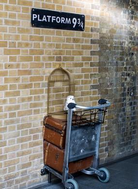 Platform 9 3/4 King's Cross Station, London