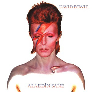 The memorial is a tribute to the cover of Aladdin Sane | © EMI Music