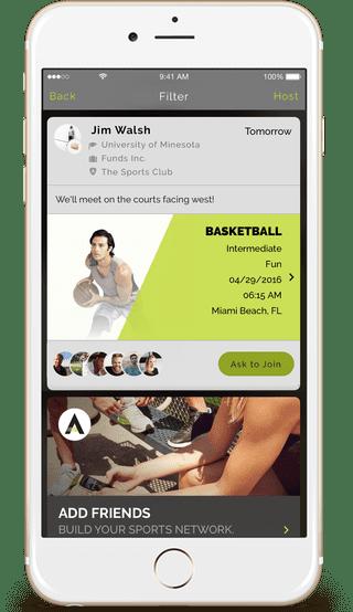 ATLETO app on iOS | © ATLETO