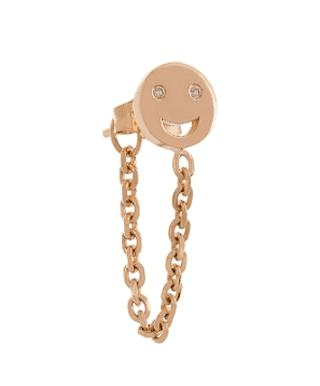 Alison Lou, Diamond & gold single Happy Face earring, £415 | Courtesy of Matches Fashion