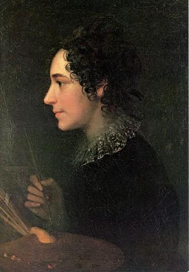 Marie Ellenrieder. 'Self portrait as a painter', (1819)