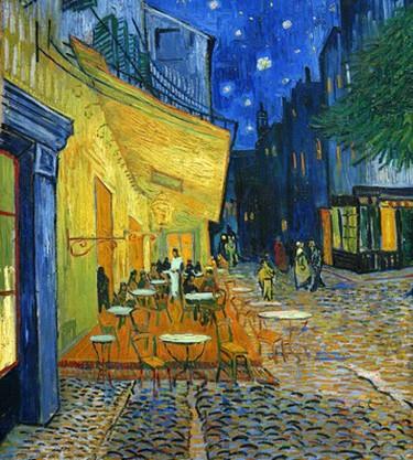 Vincent van Gogh, Terrace of a Café at Night   Frans Vandevalle/ Flickr