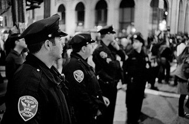 Police watching over the Proposition 8 protest on November 7th, 2008 | © Christopher Layne/Flickr