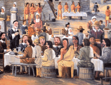 First thanksgiving, painter unknown