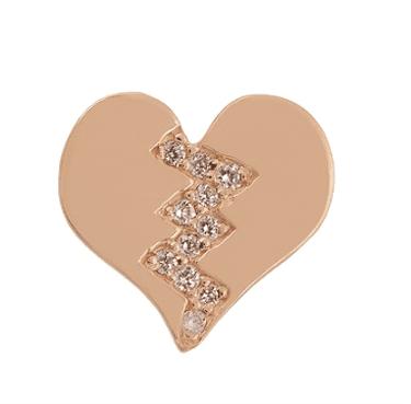 Alison Lou, Diamond & yellow-gold Broken Heart earring, £440 | Courtesy of Matches Fashion