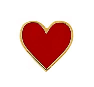 Alison Lou, Enamel & yellow-gold Heart earring, £290 | Courtesy of Matches Fashion
