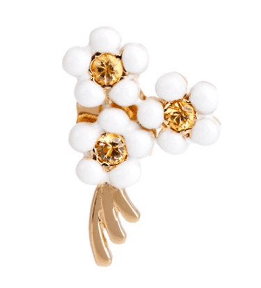 Alison Lou, Sapphire, enamel & yellow-gold Daisy earring, £425 | Courtesy of Matches Fashion