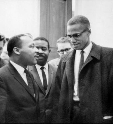 Malcolm X and Martin Luther King Jr.