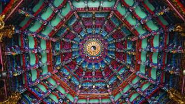 Hsinchu City God Temple Ceiling