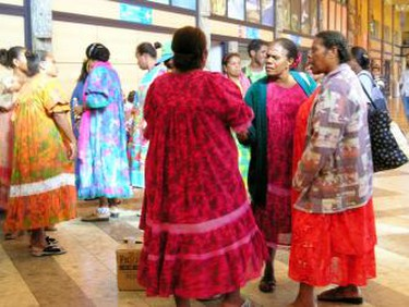 New Caledonians from the Kaneka movement