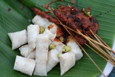 Ketupat and Satay