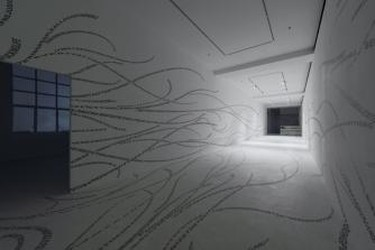 Tsang Kin-wah, Ecce Homo Trilogy I, Multi-channel video, text & painting installations, Pearl Lam Galleries, Hong Kong, 2011-2012   © photograph by the Artist