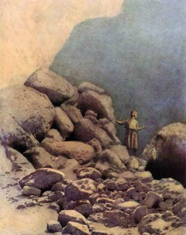 Sinbad - The Valley of Diamonds by Maxfield Parrish
