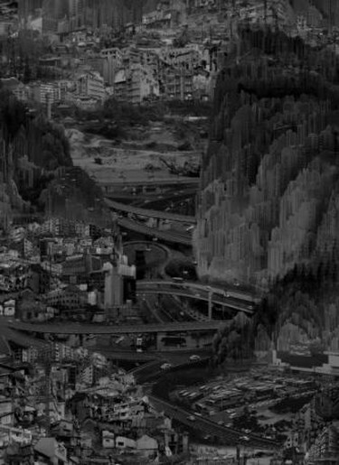 Yang Yongliang, 'Infinite Landscape', digital Blu-Ray video, 7min 30sec (frame detail), 2011 | Courtesy of the artist and White Rabbit Gallery.