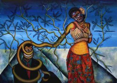Oeur Sokuntevy, 'Maneater' | © Courtesy of Java Arts Gallery and the artist