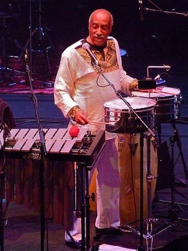 Mulatu Astatke performs with the Heliocentrics at the Barbican Centre, London