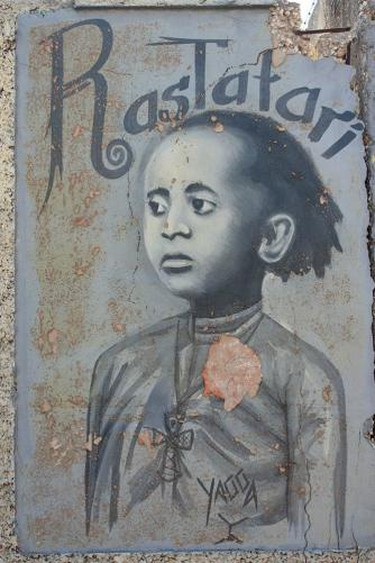 Rastafari Mural in Kingston, Jamaica