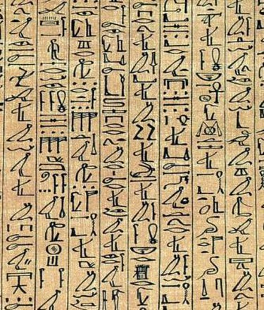 Cursive hieroglyphics from the Papyrus of Ani | © Flembles/WikiCommons