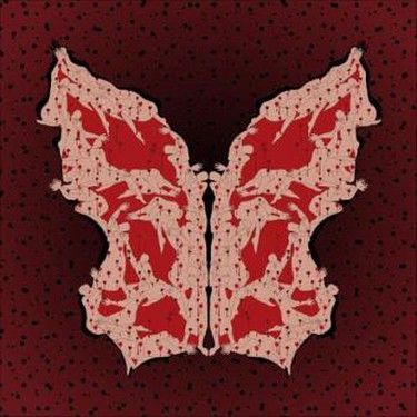 """Parastou Forouhar, Ashura Day from the """"Papillon Collection"""", 2010, digital print on Epson glossy photo paper, 100 x 100 cm, edition of 7,   Courtesy Rose Issa Projects"""