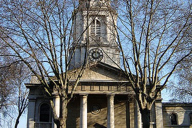 The St Leonard's Church also known as the Shoreditch Church