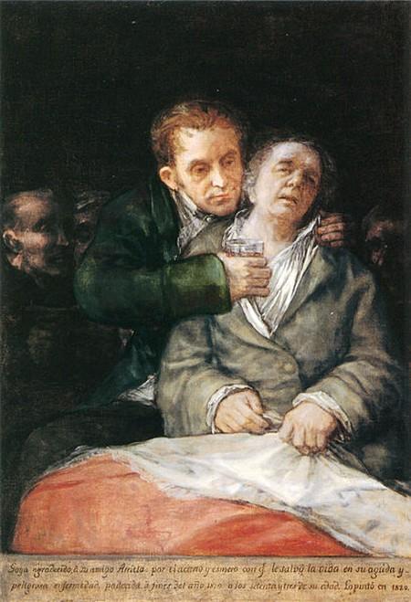 Francisco de Goya. 'Self-portrait with Dr Arrieta' (1820) | © WikiCommons