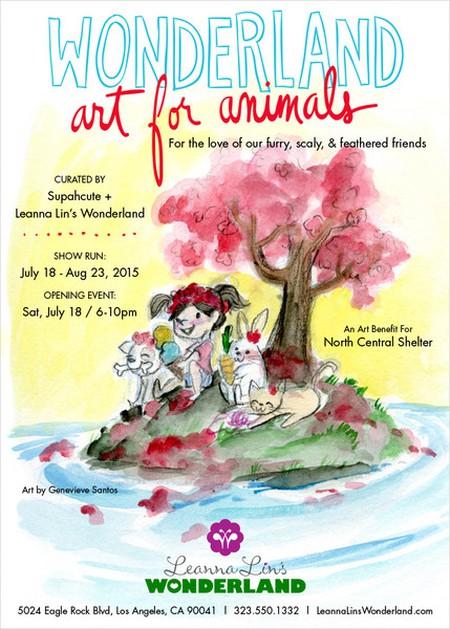 Wonderland Art Show Card at Leanna Lin's Wonderland. Courtesy of Leanna Lin.