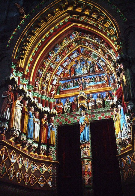 Amiens Cathedral Polychrome sculptures  ©Mattana/ WikiCommons