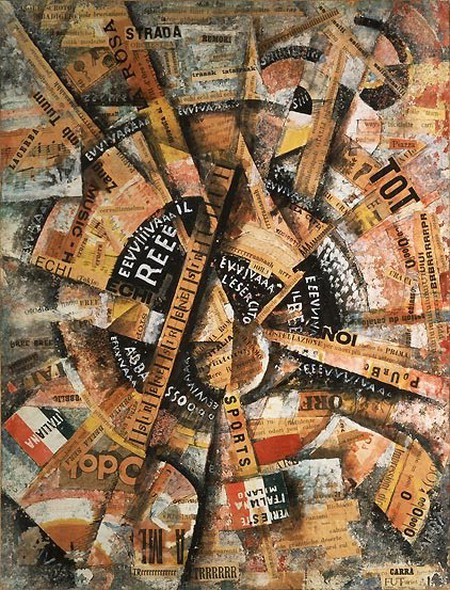 """""""Interventionist Demonstration"""" by Carlo Carrà 