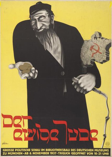 Poster from the 1937 propaganda exhibition 'The Eternal Jew'|Wikicommons