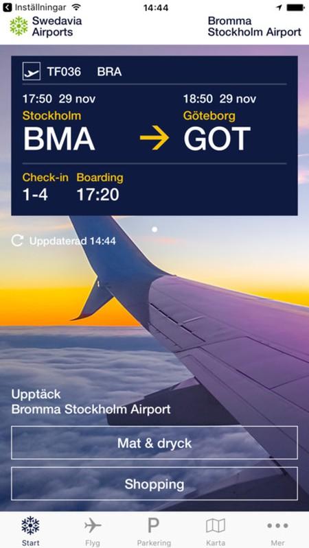Stockholm airport app