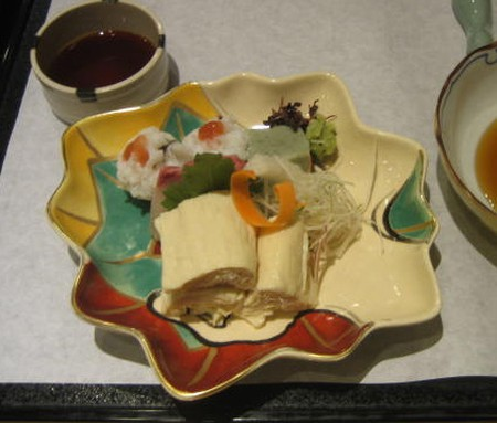 Yuba meal served in Kyoto
