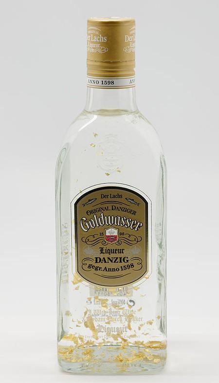 A bottle of Danziger Goldwasser 'Der Lachs' I