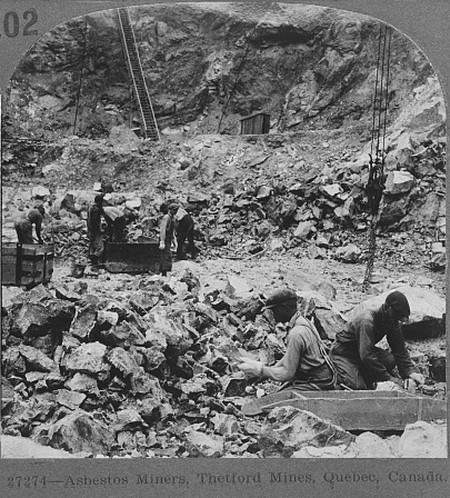 Thetford Mines asbestos miners in the 1920s