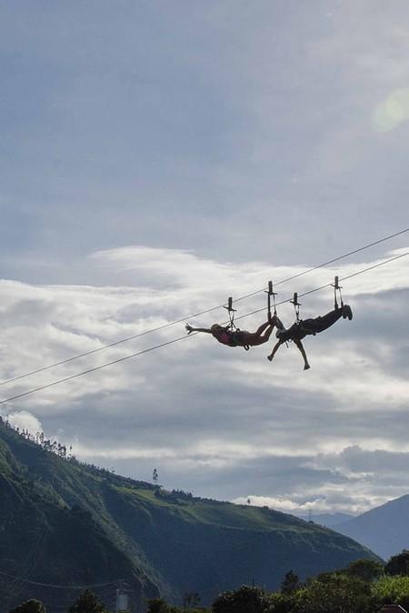 Ziplining in Baños, Ecuador