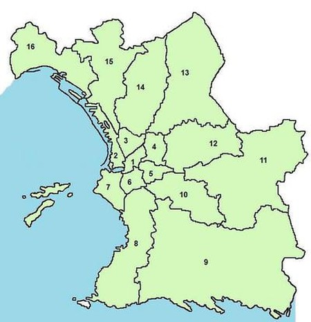 A map showing the suburbs of Marseille