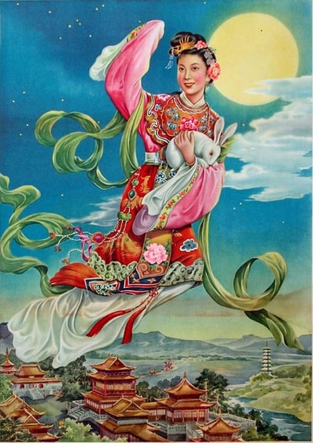 Chang'e flying to the moon 1950s
