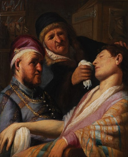 """<em>The Unconscious Patient (Allegory of Smell)</em>  <a href=""""https://commons.wikimedia.org/wiki/File:Rembrandt-SMELL.jpg"""" target=""""_blank"""" rel=""""noopener"""">©Ashmolean Museum/WikiCommons</a>"""