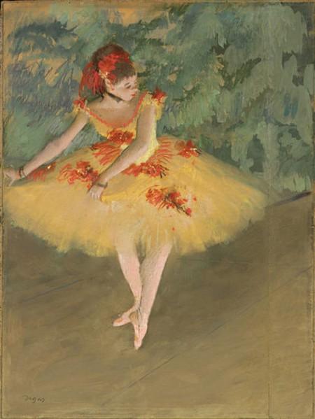 "Edgar Degas, 'Dancer Making Points,' 1879–1880 | <a href=""https://commons.wikimedia.org/wiki/File:Danseuse_Faisant_des_Pointes.jpg"" target=""_blank"" rel=""noopener"">© WikiCommons</a>"