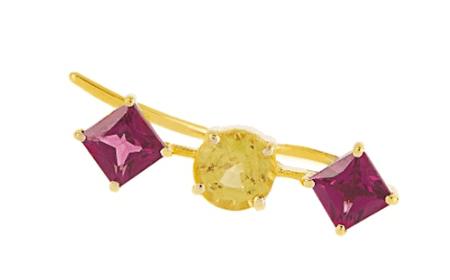 Ileana Makri, Sapphire, rodolite & yellow-gold ear cuff, £440 | Courtesy of Matches Fashion