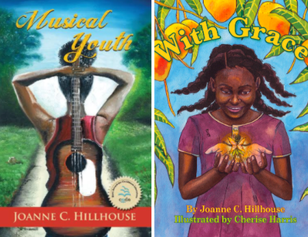 Covers from Hillhouse's recent YA and children's books | Courtesy of Caribbean Reads Publishing (L) and Little Bell Caribbean (R)
