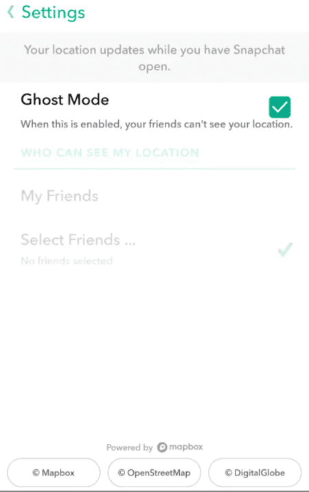 How to disable Snap Maps with Ghost mode | © Snap