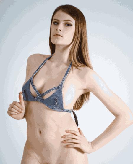 Denim Bikini Bra by tHERAPY
