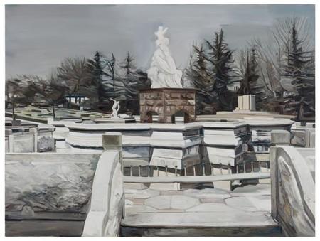 Wang Zibo, 'Bases', 2012. Oil on Canvas. 150 x 200 cm. | image courtesy the artist and Edouard Malingue Gallery Hong Kong
